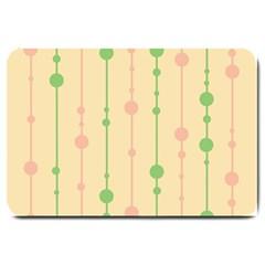 Pastel pattern Large Doormat