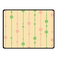 Pastel Pattern Fleece Blanket (small)