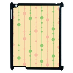 Pastel pattern Apple iPad 2 Case (Black)