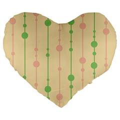 Pastel pattern Large 19  Premium Heart Shape Cushions