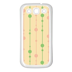 Pastel pattern Samsung Galaxy S3 Back Case (White)