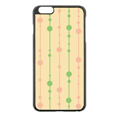 Pastel pattern Apple iPhone 6 Plus/6S Plus Black Enamel Case