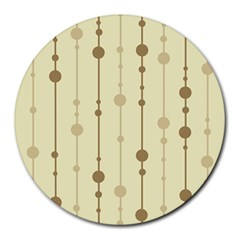 Brown pattern Round Mousepads