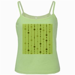 Brown pattern Green Spaghetti Tank