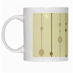 Brown pattern White Mugs