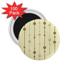 Brown pattern 2.25  Magnets (100 pack)