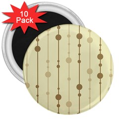 Brown pattern 3  Magnets (10 pack)