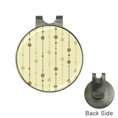 Brown pattern Hat Clips with Golf Markers