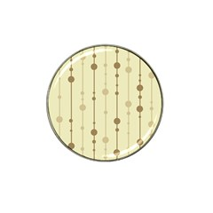 Brown pattern Hat Clip Ball Marker (4 pack)