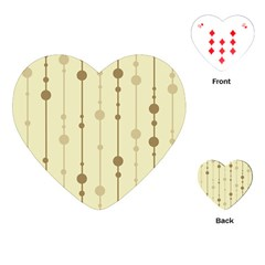 Brown pattern Playing Cards (Heart)