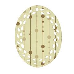 Brown pattern Ornament (Oval Filigree)