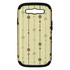 Brown pattern Samsung Galaxy S III Hardshell Case (PC+Silicone)