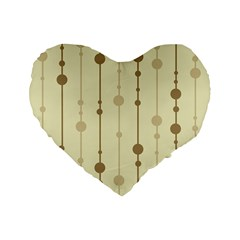 Brown pattern Standard 16  Premium Heart Shape Cushions