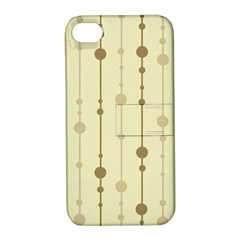 Brown pattern Apple iPhone 4/4S Hardshell Case with Stand