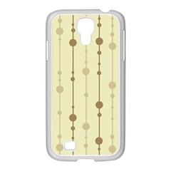 Brown pattern Samsung GALAXY S4 I9500/ I9505 Case (White)