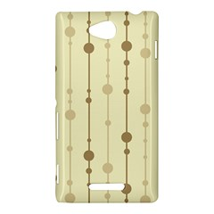 Brown pattern Sony Xperia C (S39H)