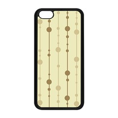 Brown pattern Apple iPhone 5C Seamless Case (Black)