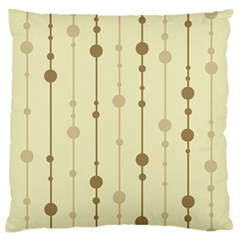 Brown pattern Large Flano Cushion Case (Two Sides)