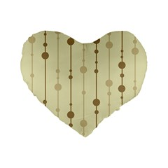 Brown pattern Standard 16  Premium Flano Heart Shape Cushions