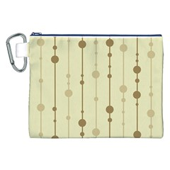 Brown pattern Canvas Cosmetic Bag (XXL)