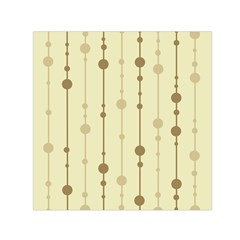Brown pattern Small Satin Scarf (Square)