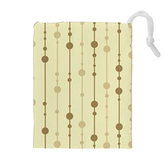 Brown Pattern Drawstring Pouches (extra Large)