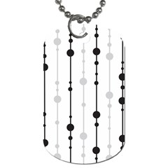 Black and white elegant pattern Dog Tag (Two Sides)