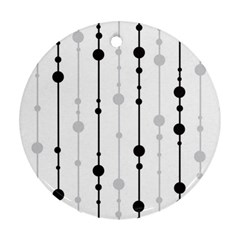 Black and white elegant pattern Round Ornament (Two Sides)