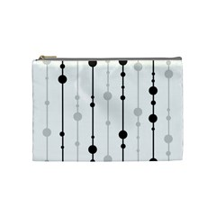 Black and white elegant pattern Cosmetic Bag (Medium)
