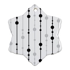 Black and white elegant pattern Snowflake Ornament (2-Side)