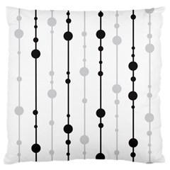 Black and white elegant pattern Standard Flano Cushion Case (Two Sides)
