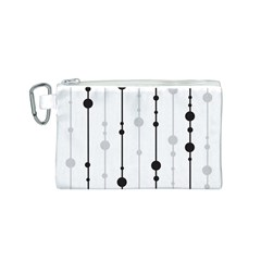 Black and white elegant pattern Canvas Cosmetic Bag (S)