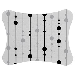 Black and white elegant pattern Jigsaw Puzzle Photo Stand (Bow)