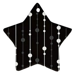 Black and white pattern Star Ornament (Two Sides)