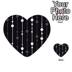 Black and white pattern Multi-purpose Cards (Heart)