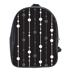 Black and white pattern School Bags(Large)