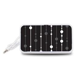 Black and white pattern Portable Speaker (White)