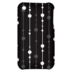 Black and white pattern Apple iPhone 3G/3GS Hardshell Case