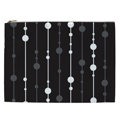 Black and white pattern Cosmetic Bag (XXL)