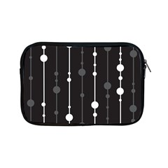 Black and white pattern Apple iPad Mini Zipper Cases
