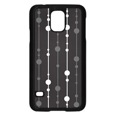 Black and white pattern Samsung Galaxy S5 Case (Black)