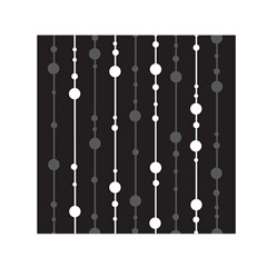 Black and white pattern Small Satin Scarf (Square)