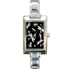 Dragonflies pattern Rectangle Italian Charm Watch