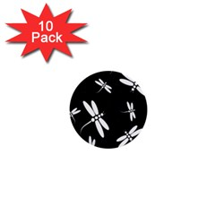 Dragonflies pattern 1  Mini Buttons (10 pack)