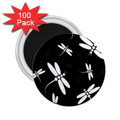 Dragonflies pattern 2.25  Magnets (100 pack)