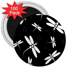 Dragonflies pattern 3  Magnets (100 pack)