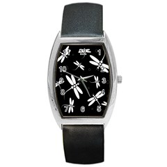 Dragonflies pattern Barrel Style Metal Watch