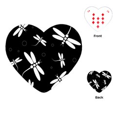Dragonflies pattern Playing Cards (Heart)