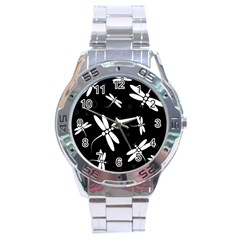 Dragonflies pattern Stainless Steel Analogue Watch