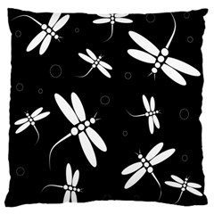Dragonflies pattern Large Flano Cushion Case (One Side)